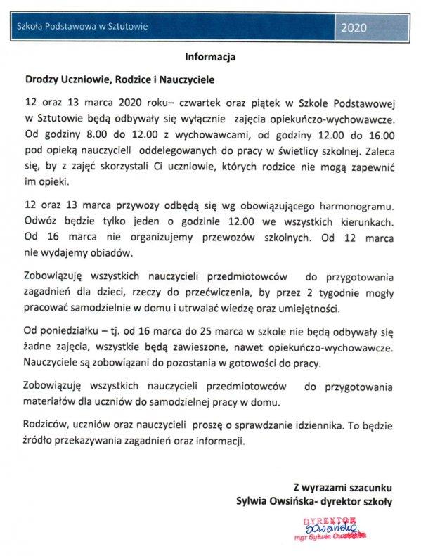 koronawirus_zawieszenie_zajec_informacja